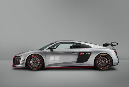 2017er-Modell des R8 LMS GT4 in seitlicher Ansicht