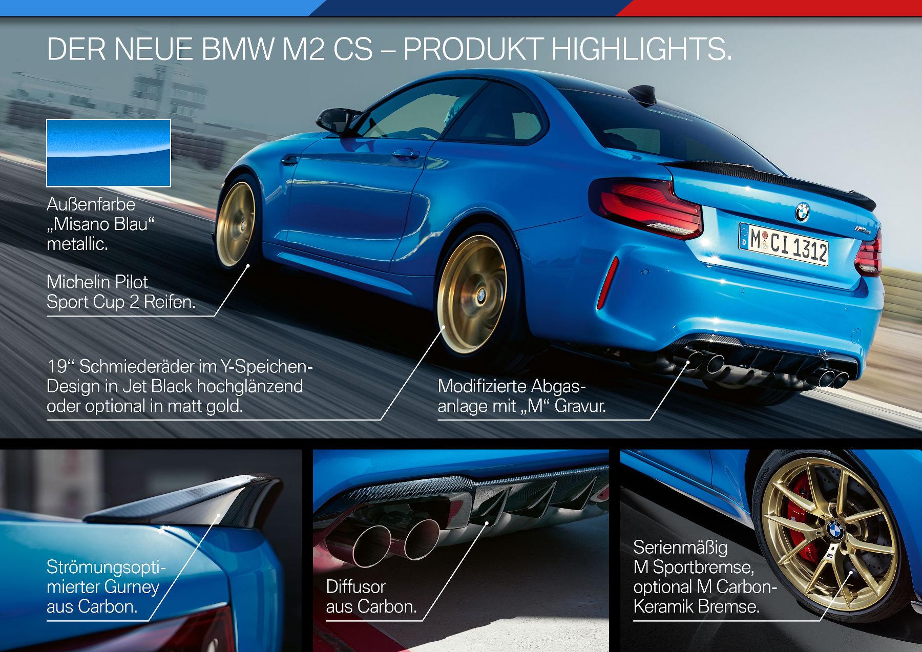Highlights des BMW M2 CS
